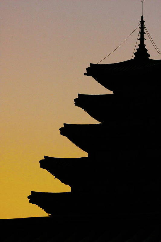 Vertical Art Print featuring the photograph The Pagoda At Gyeongbukgong In Seoul by Photography by Simon Bond