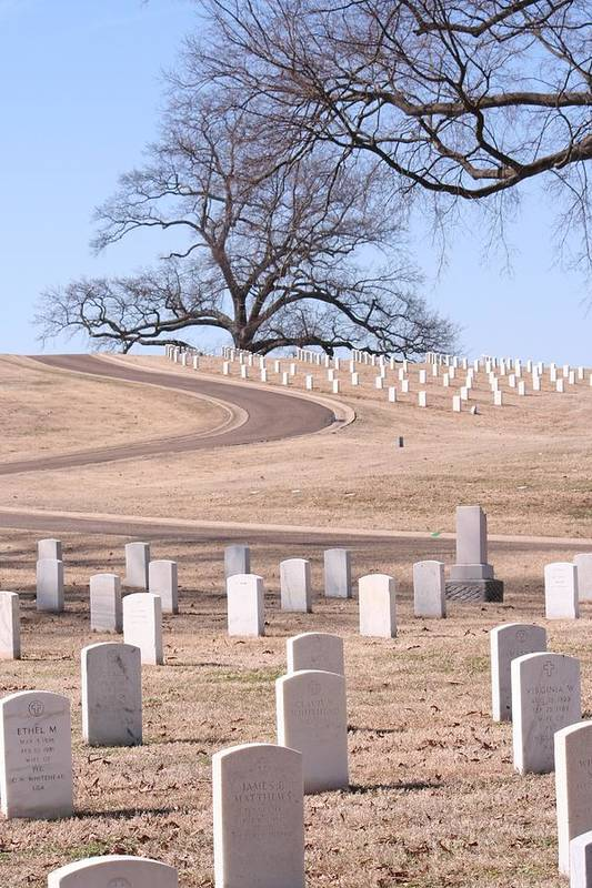National Cemetary Art Print featuring the photograph The Road by Tim Hall