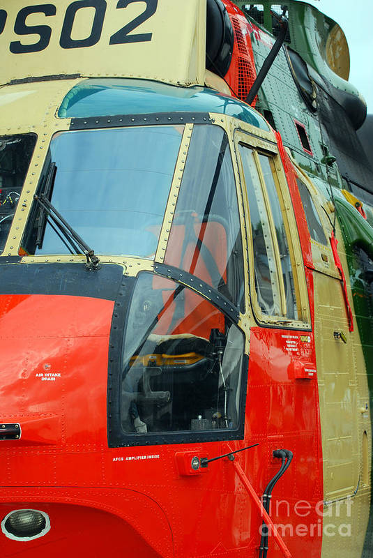 Air Component Art Print featuring the photograph The Sea King Helicopter Used by Luc De Jaeger