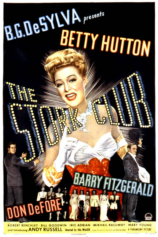 1940s Movies Print featuring the photograph The Stork Club, Don Defore, Betty by Everett