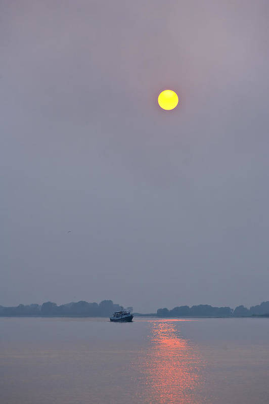 Sun Art Print featuring the photograph The Sun Over The Volga by Andrew Shlykoff