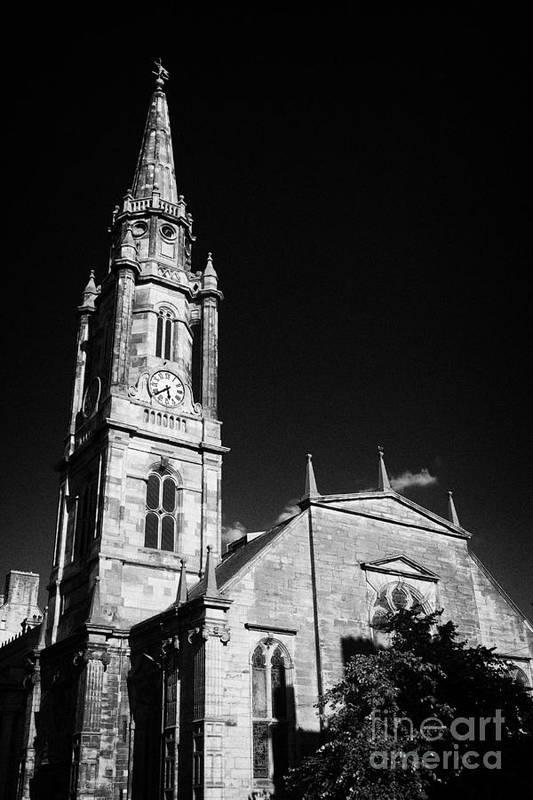 The Art Print featuring the photograph The Tron Church Edinburgh Scotland Uk United Kingdom by Joe Fox