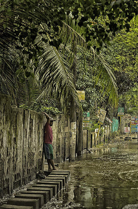 Cebu Art Print featuring the photograph This Is The Philippines No.57 - Guess Im Gonna Get Wet Feet by Paul W Sharpe Aka Wizard of Wonders