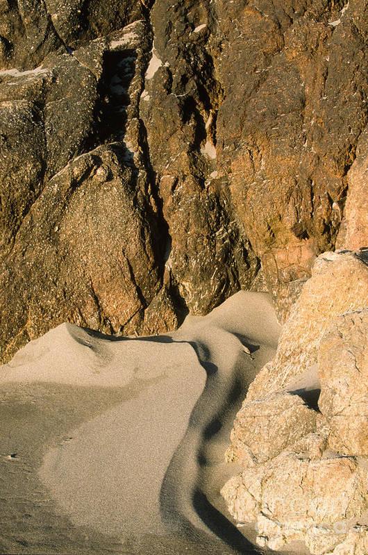 Harris Beach Art Print featuring the photograph Tide Sculpture by Sandra Bronstein