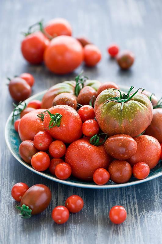 Vertical Art Print featuring the photograph Tomatoes by Verdina Anna