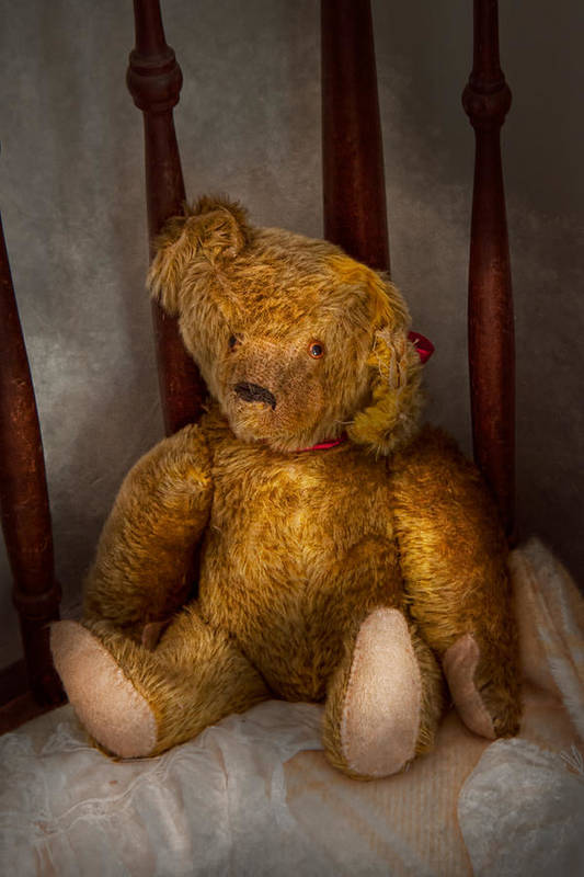 Children Art Print featuring the photograph Toy - Teddy Bear - My Teddy Bear by Mike Savad