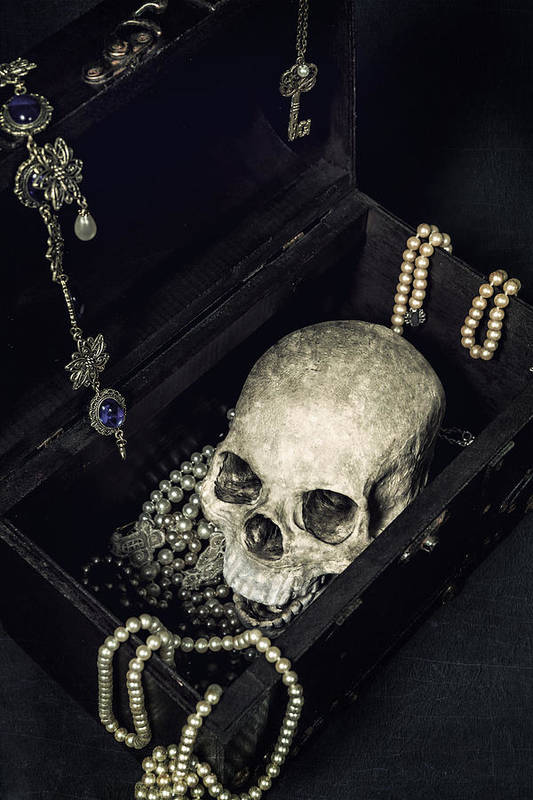 Skull Art Print featuring the photograph Treasure Chest by Joana Kruse