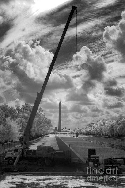 National Mall Art Print featuring the photograph Under Construction by Mike Kurec