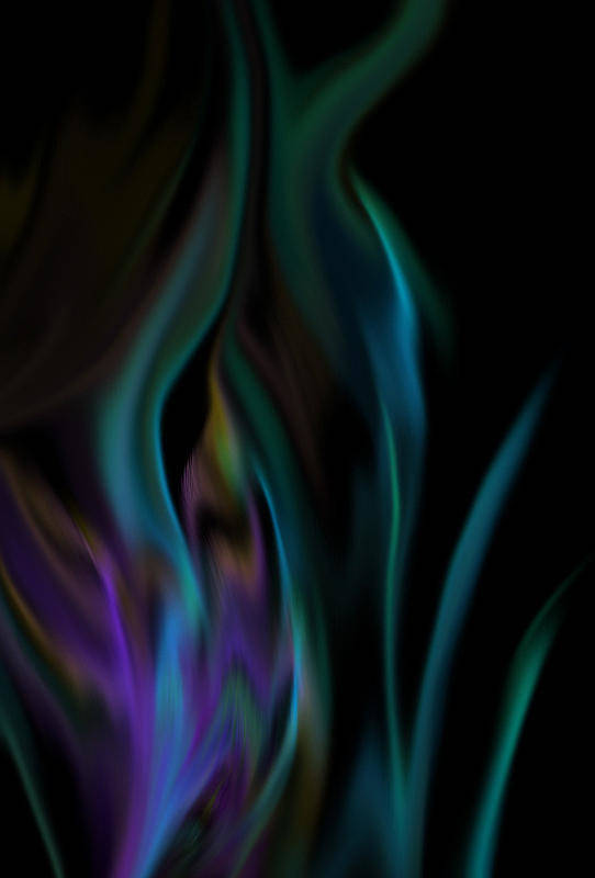 Fire Art Print featuring the digital art Underwater Fire by BJ Crank