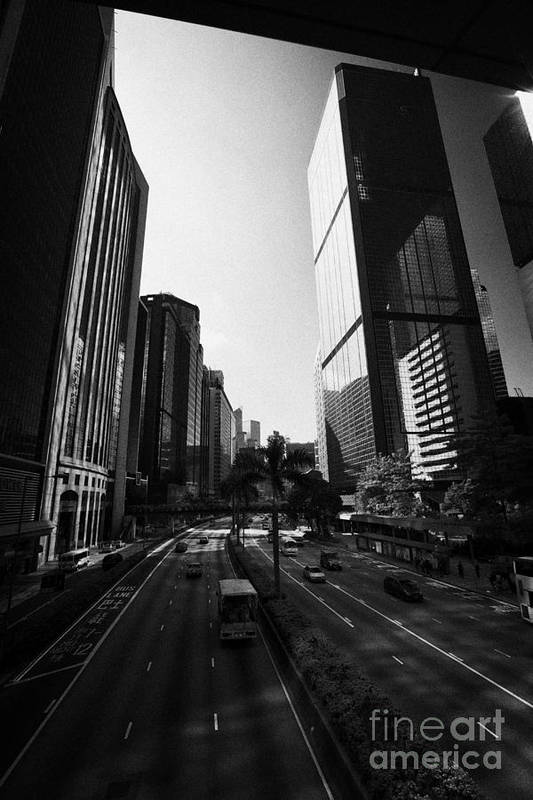 Wan Chai Art Print featuring the photograph View Of Gloucester Road Wan Chai Skyscrapers Including Revenue Immigration Tower Building Hong Kong by Joe Fox