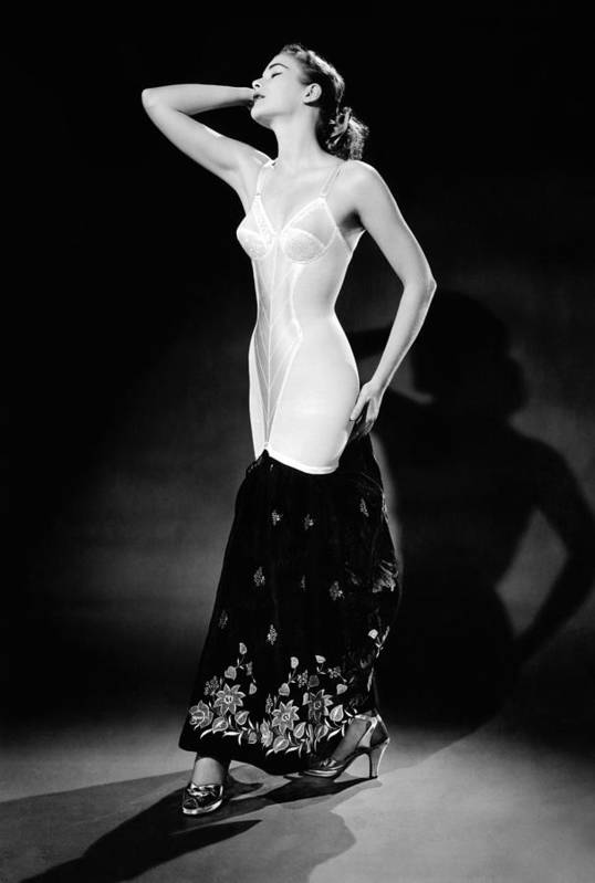 History Art Print featuring the photograph Warner Corset Provided Full Body by Everett