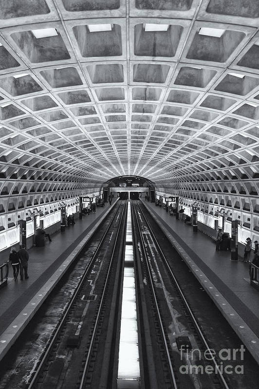 Clarence Holmes Art Print featuring the photograph Washington Dc Metro Station II by Clarence Holmes