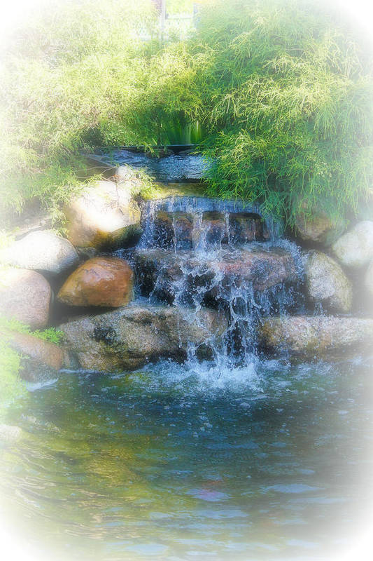 Water Art Print featuring the photograph Waterfall by Rebecca Frank