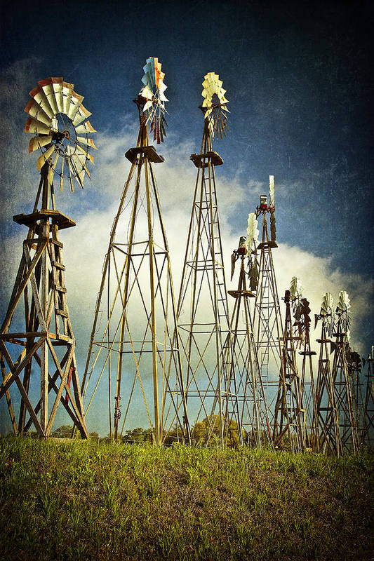 Windmills Art Print featuring the photograph Windmills Of My Mind by Terry Hollensworth-Rutledge