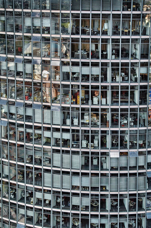 Vertical Art Print featuring the photograph Windows Again, Berlin by Eike Maschewski