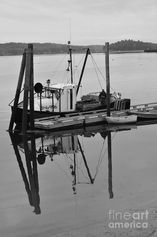 Wiscasset Art Print featuring the photograph Wiscasset Reflection by Catherine Reusch Daley