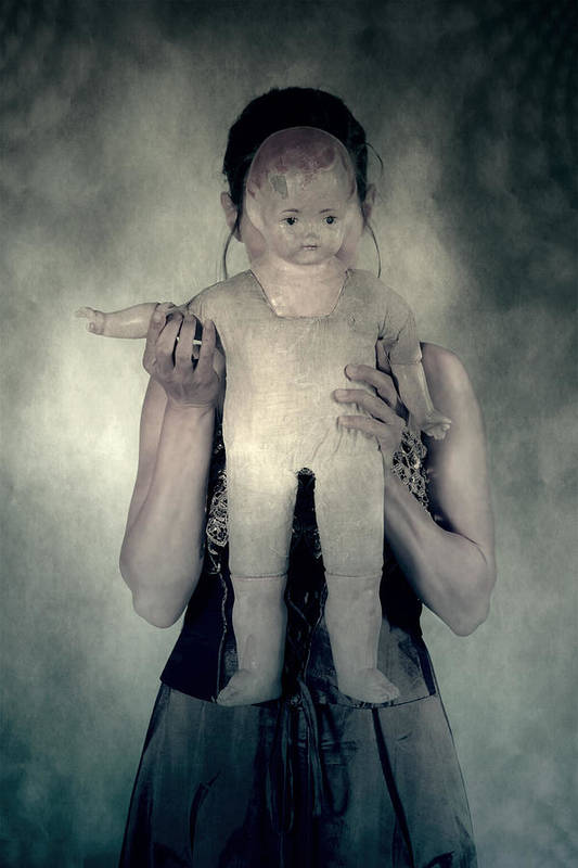 Hide Art Print featuring the photograph Woman With Doll by Joana Kruse