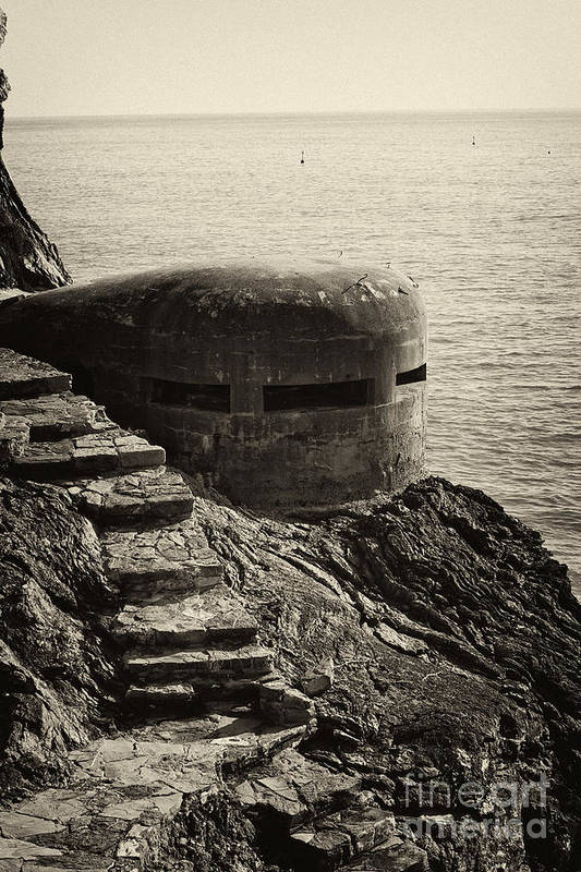 Wwii Art Print featuring the photograph Wwii Pill Box by Leslie Leda