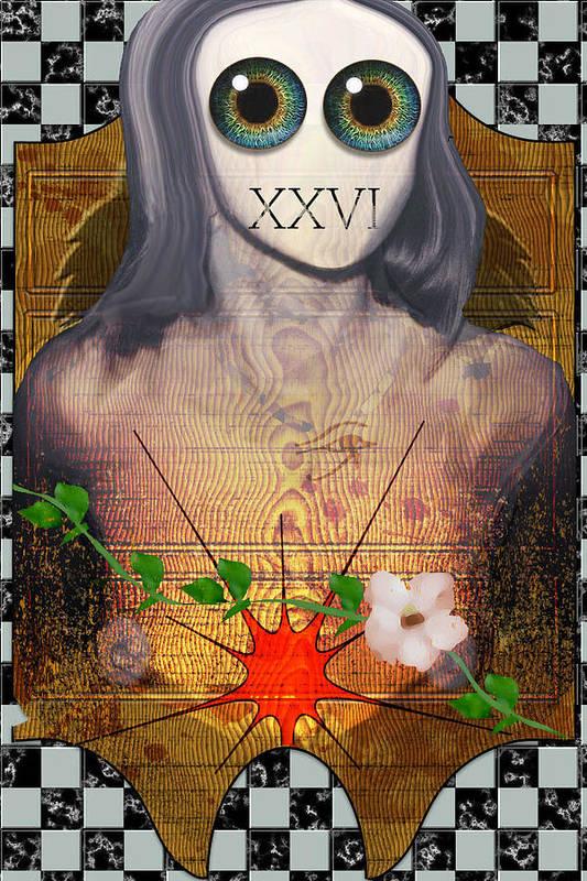 Eye.eyes Art Print featuring the digital art Xxvi by Scott Claudy