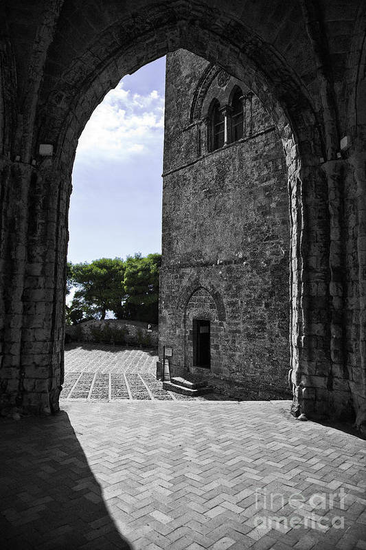 Arch Art Print featuring the photograph A Gothic View by Madeline Ellis