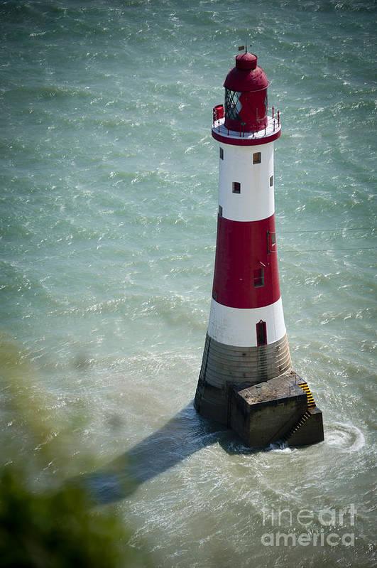 Beachy Head Art Print featuring the photograph Beachy Head Lighthouse. by Donald Davis