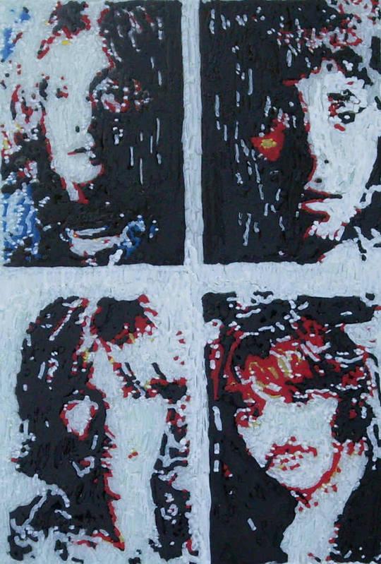 Beatles Art Print featuring the painting Beatles by Grant Van Driest