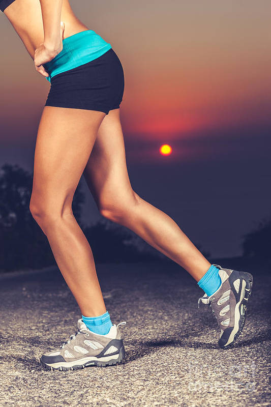 Activities Art Print featuring the photograph Beautiful Sportive Womens Legs by Anna Om