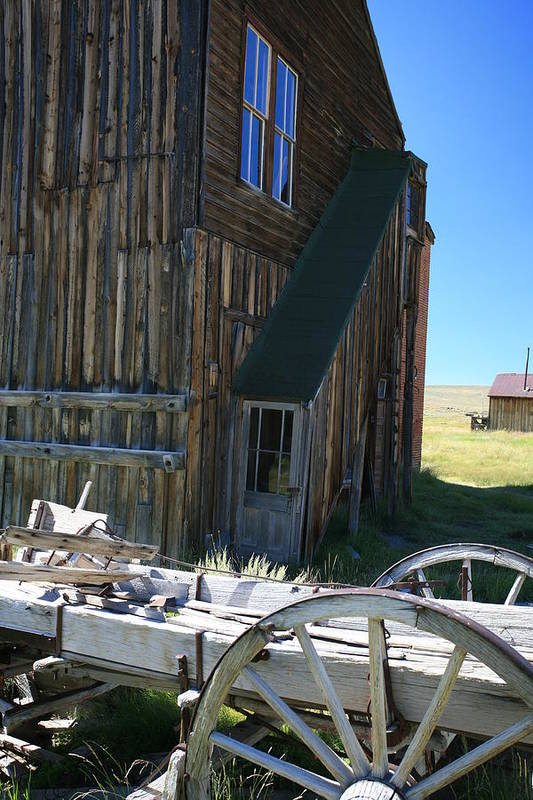 Bodie Art Print featuring the photograph Bodie Wagon by Carl Hinkle