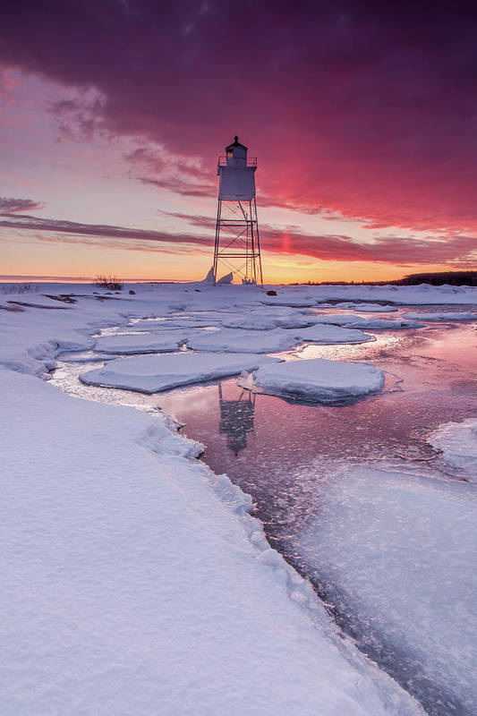 Lighthouse Art Print featuring the photograph Chance Reflections by Lee and Michael Beek