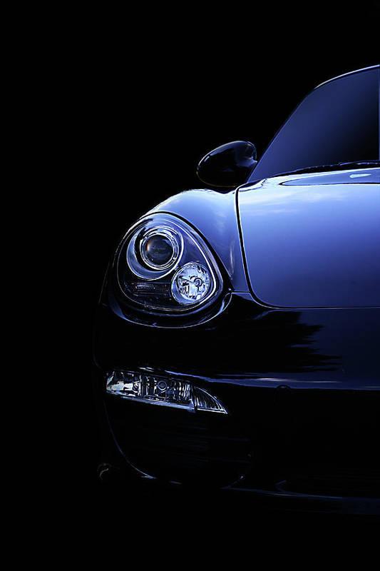 Dark Art Print featuring the photograph Dark Porsche by David Paul Murray