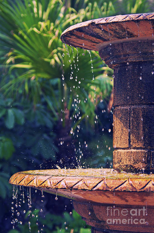Asia Art Print featuring the photograph Fountain by Angela Doelling AD DESIGN Photo and PhotoArt