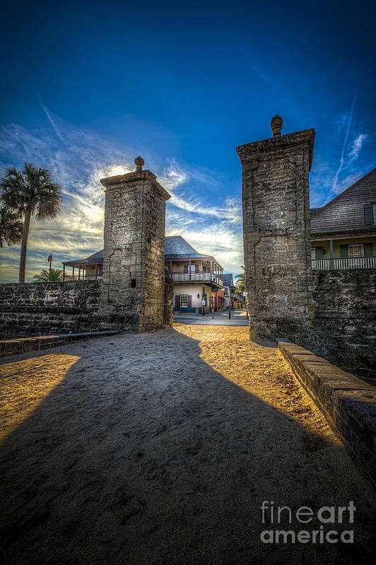 Fort Art Print featuring the photograph Gate To The City 2 by Marvin Spates