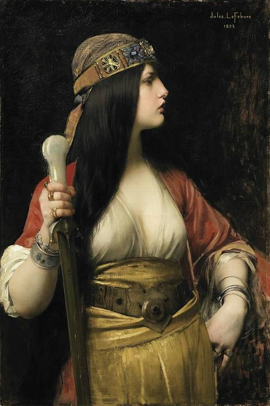 Jules Joseph Lefebvre - Judith Art Print featuring the painting Judith by MotionAge Designs