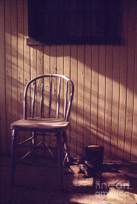 Chair Art Print featuring the photograph Just Stepped Out For Sugar by Steven Godfrey