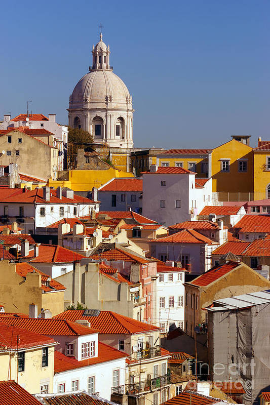 Alfama Print featuring the photograph Lisbon View by Carlos Caetano