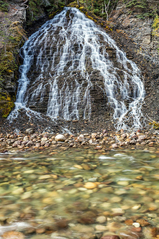 Maligne Canyon Art Print featuring the photograph Cascades Of Maligne Canyon by Pierre Leclerc Photography