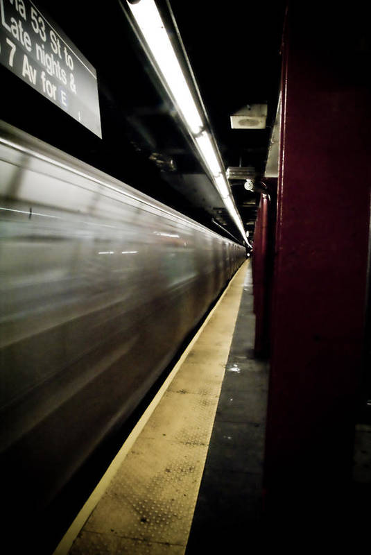 New York City Art Print featuring the photograph New York City Subway by Patrick Flynn