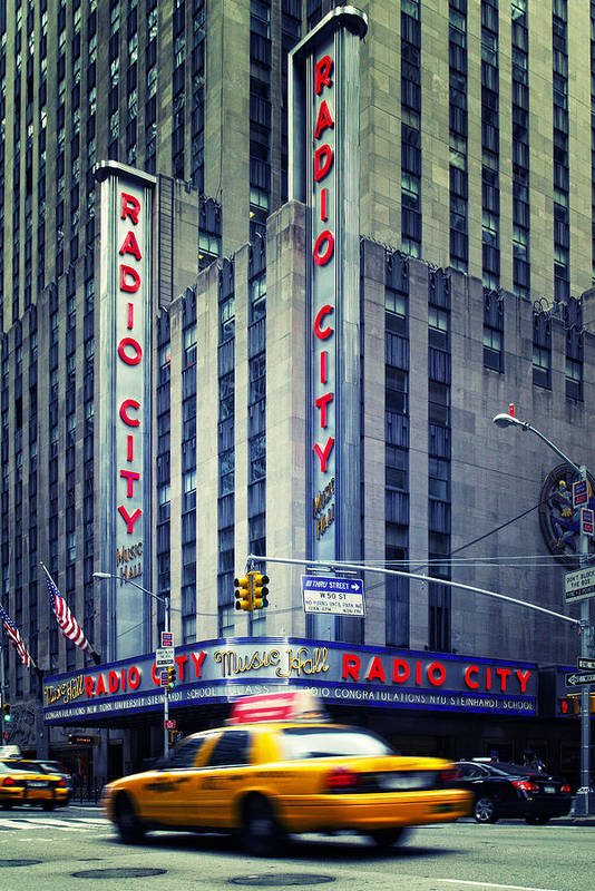 Ny Art Print featuring the photograph Nyc Radio City Music Hall by Nina Papiorek