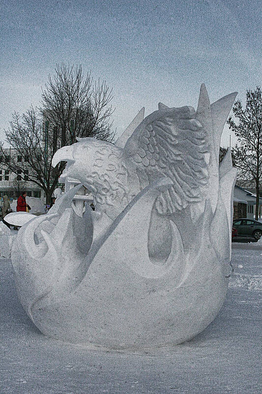 Art Print featuring the photograph Snow Sculpture by Laurie Prentice