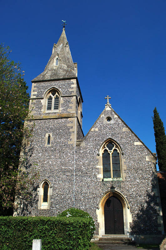 St Art Print featuring the photograph St Peters Marlow by Chris Day
