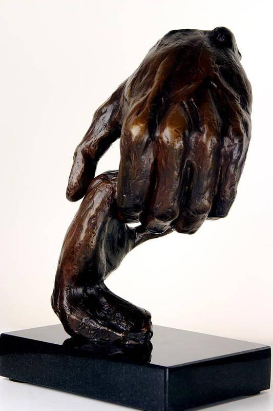 Bronze Sculpture Art Print featuring the sculpture The Journey by Dan Earle