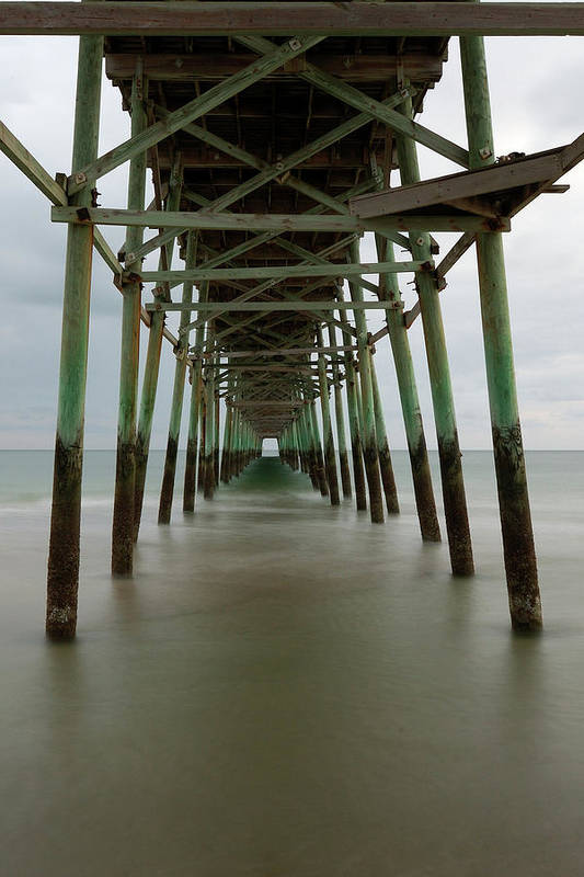 Pier Art Print featuring the photograph Under The Pier by Kevin Work