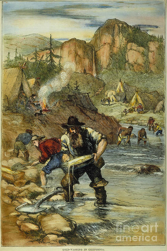 b874cfadb3cf 1850s Art Print featuring the photograph California Gold Rush by Granger