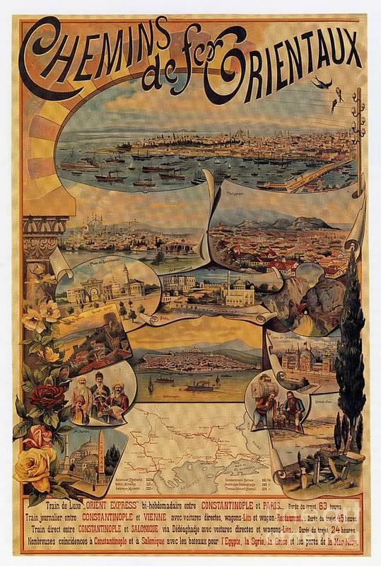 Art Print featuring the digital art 1890s Oriental Railways To Constantinople by Heidi De Leeuw