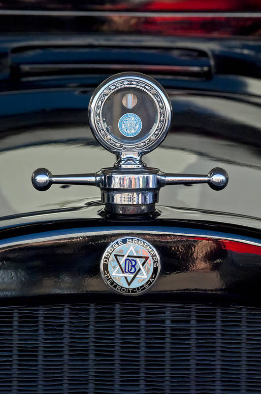 1928 Dodge Brothers Art Print featuring the photograph 1928 Dodge Brothers Hood Ornament by Jill Reger