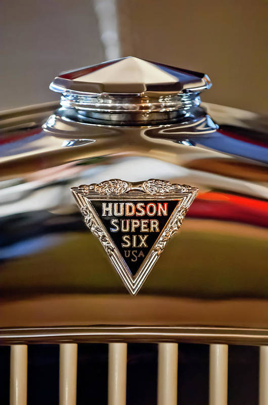 1929 Hudson Cabriolet Art Print featuring the photograph 1929 Hudson Cabriolet Hood Ornament by Jill Reger