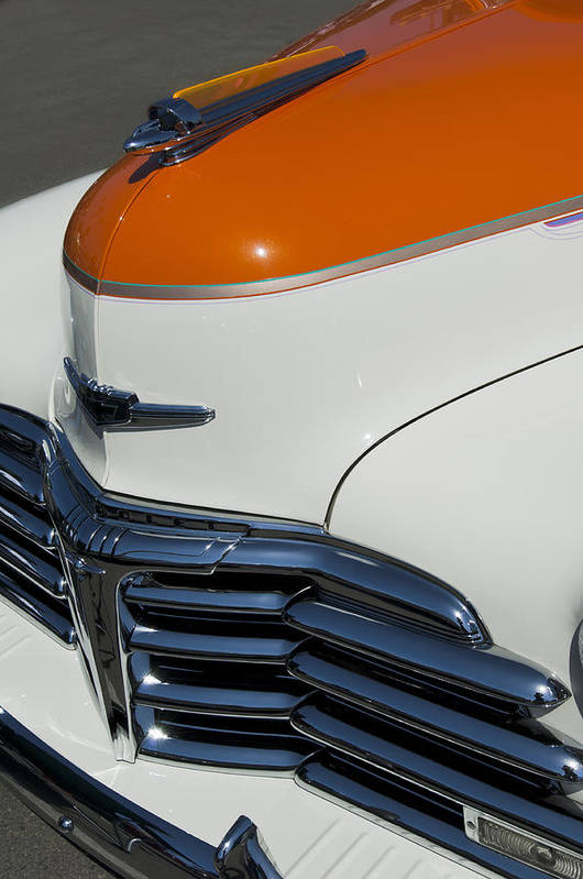 1947 Chevrolet Deluxe Art Print featuring the photograph 1947 Chevrolet Deluxe Front End by Jill Reger