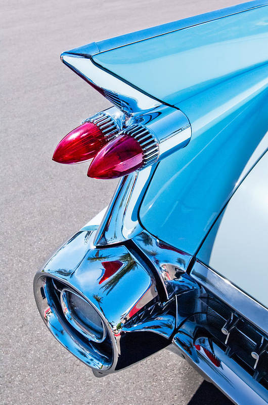 1959 Cadillac 62 Series Art Print featuring the photograph 1959 Cadillac Eldorado 62 Series Taillight by Jill Reger