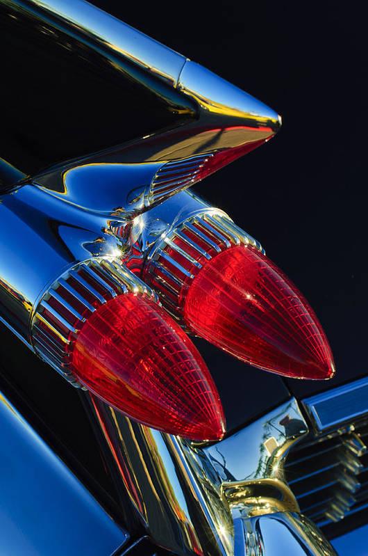 1959 Cadillac Eldorado Art Print featuring the photograph 1959 Cadillac Eldorado Tail Fin 3 by Jill Reger