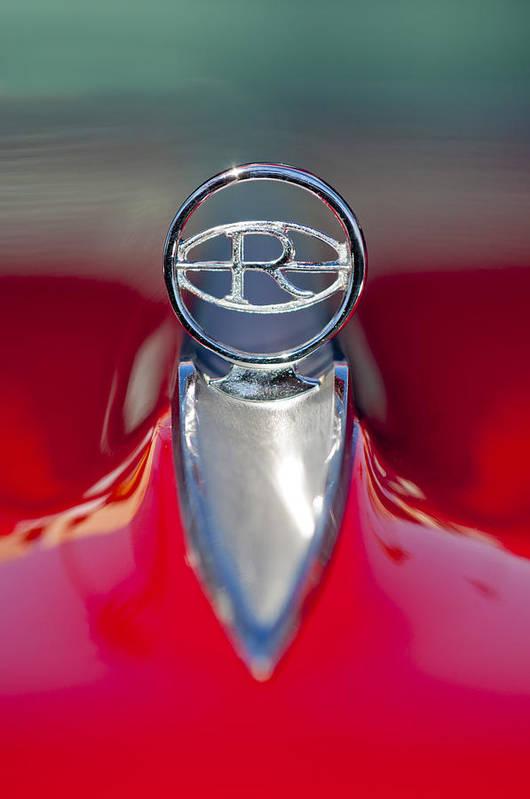 1965 Buick Riviera Art Print featuring the photograph 1965 Buick Riviera Hood Ornament by Jill Reger